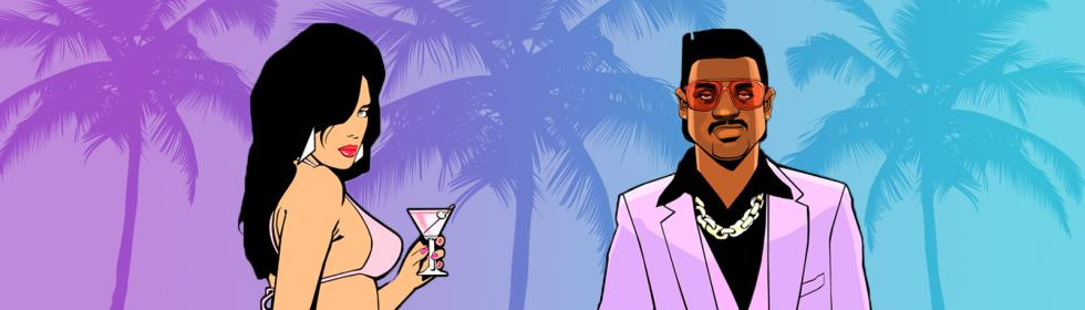 Banner Art for Games Like Grand Theft Auto: Vice City